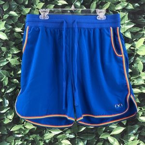 2xist Men's Size XL Blue Rainbow Pride Shorts